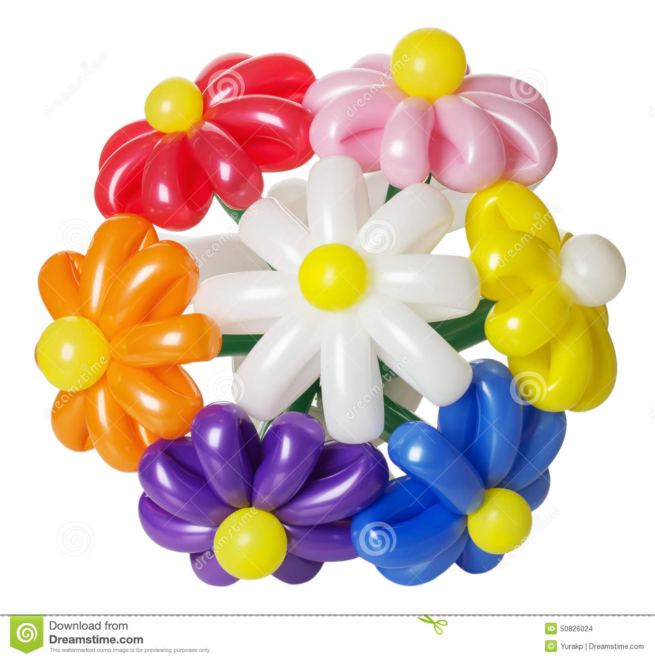 Bouquet with balloon flowers isolated on the white background stock bouquet with balloon flowers isolated on the white background izmirmasajfo