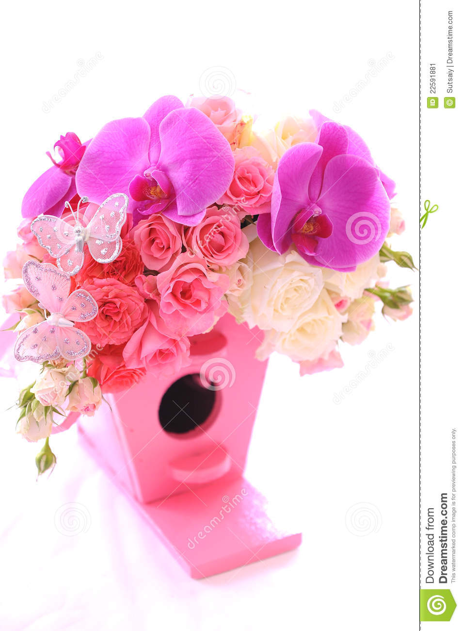 Bouquet Of Beautiful Flowers Stock Image - Image of crimson ...