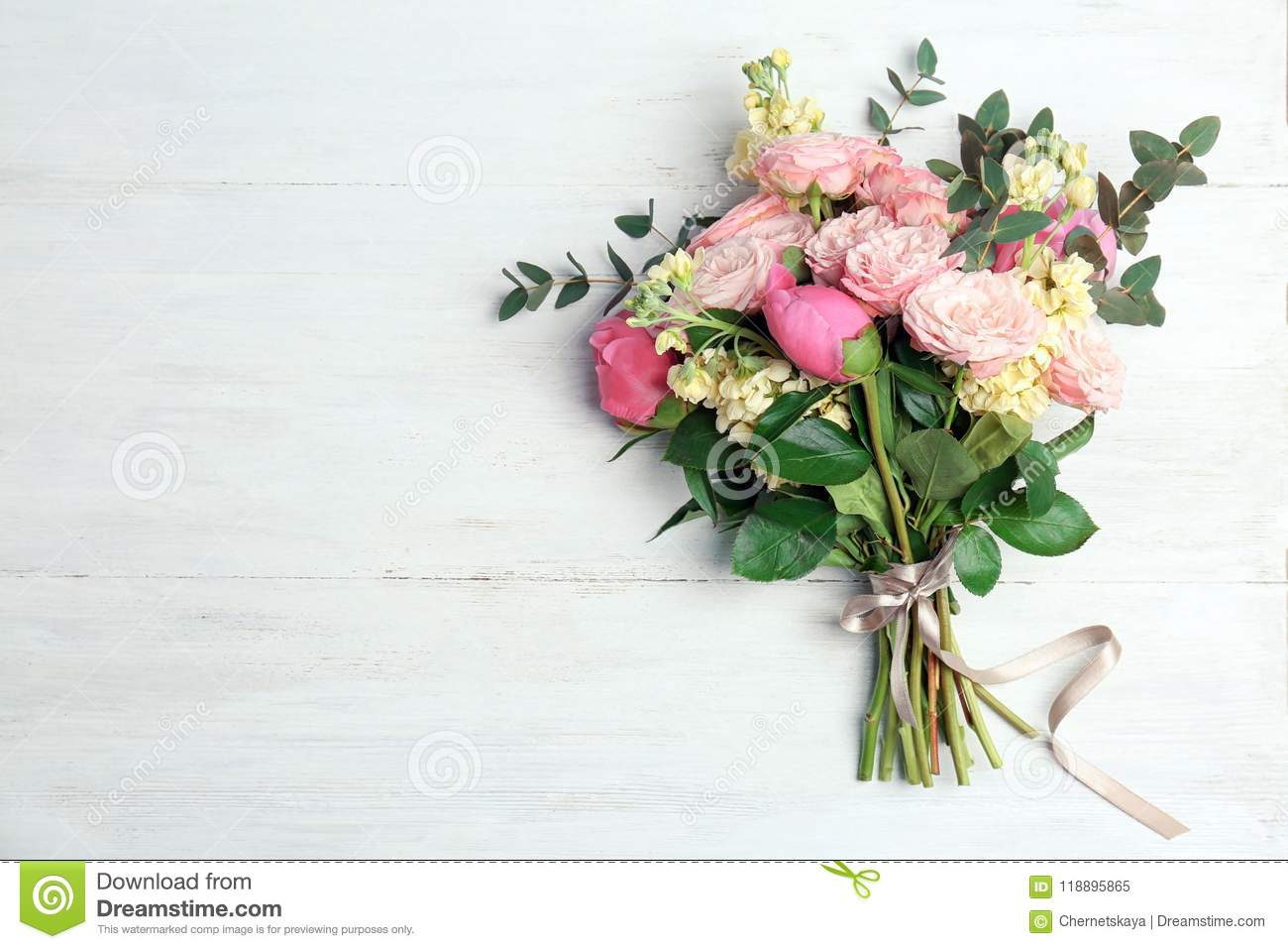 Bouquet Of Beautiful Fragrant Flowers Stock Image - Image of nobody ...