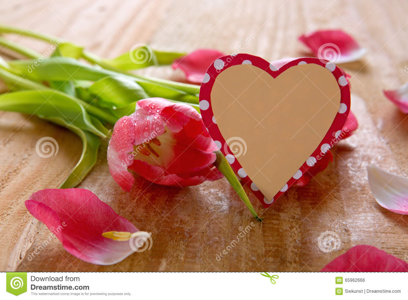 tulip in a heart card bouquet of beautiful tulips with shaped card stock 7267