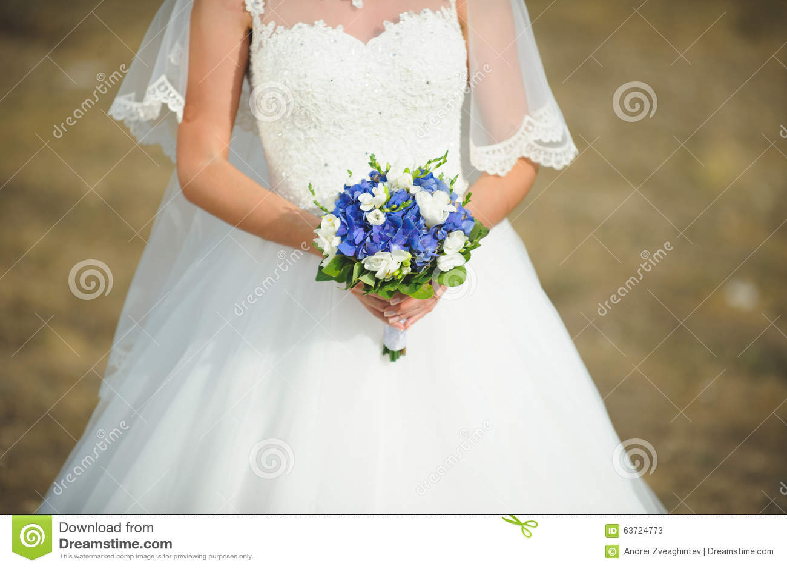 bouquet blanc et bleu de mariage photo stock image 63724773. Black Bedroom Furniture Sets. Home Design Ideas