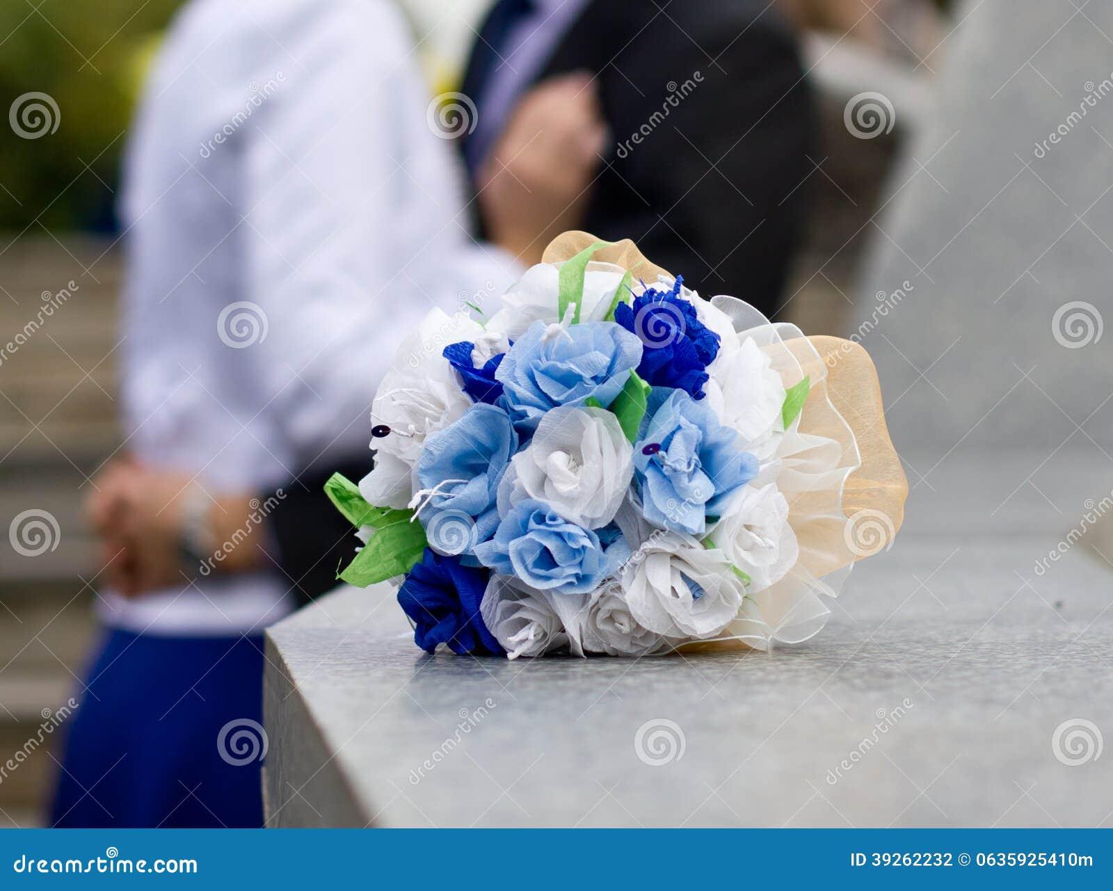 Bouquet bleu et blanc de mariage photo stock image 39262232 - Mariage bleu et blanc ...