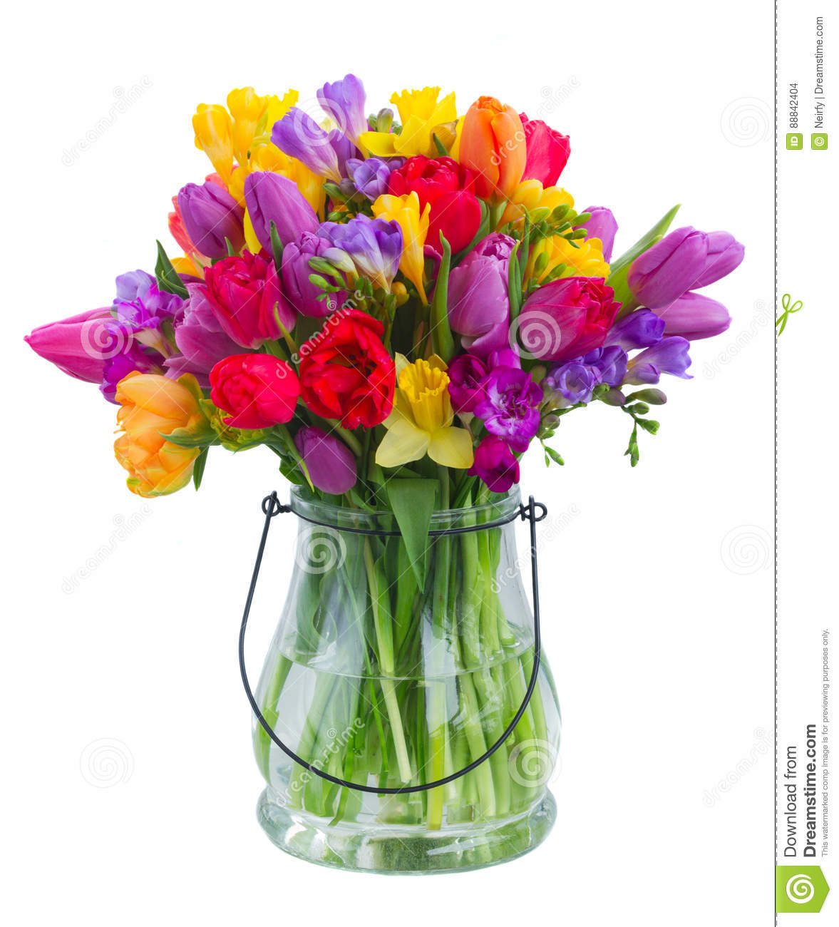 Bouquet Of Bright Spring Flowers Stock Photo Image Of Mothers