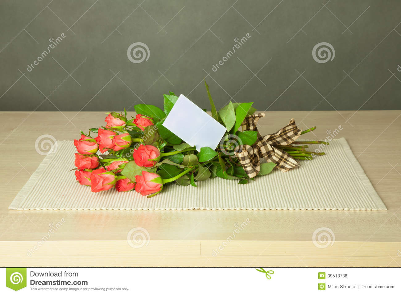 Bouquet with card