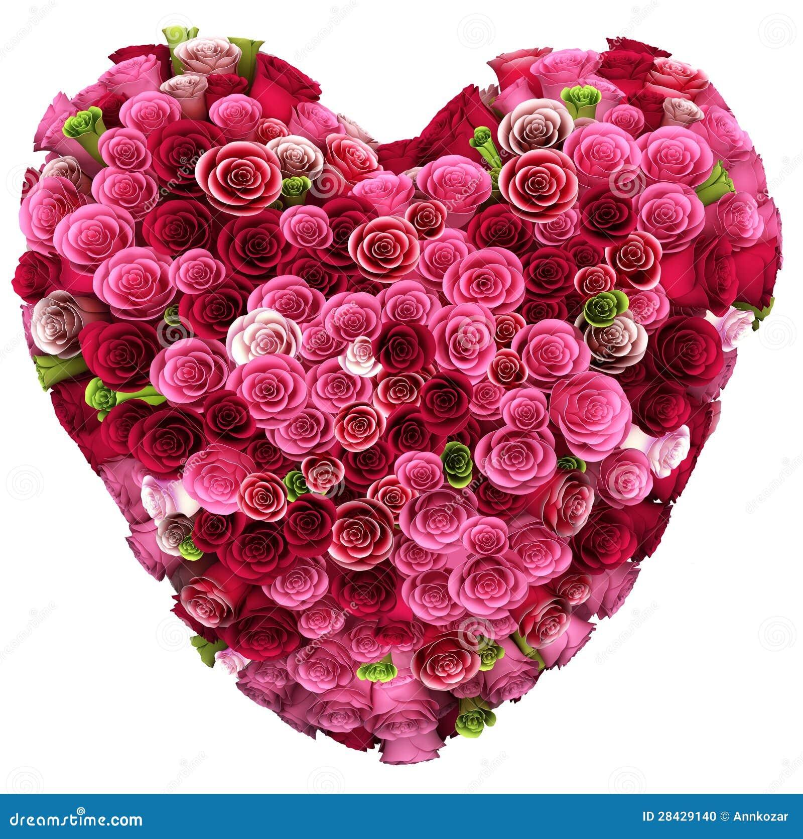 bouquet of color roses in heart shape stock illustration image 28429140. Black Bedroom Furniture Sets. Home Design Ideas