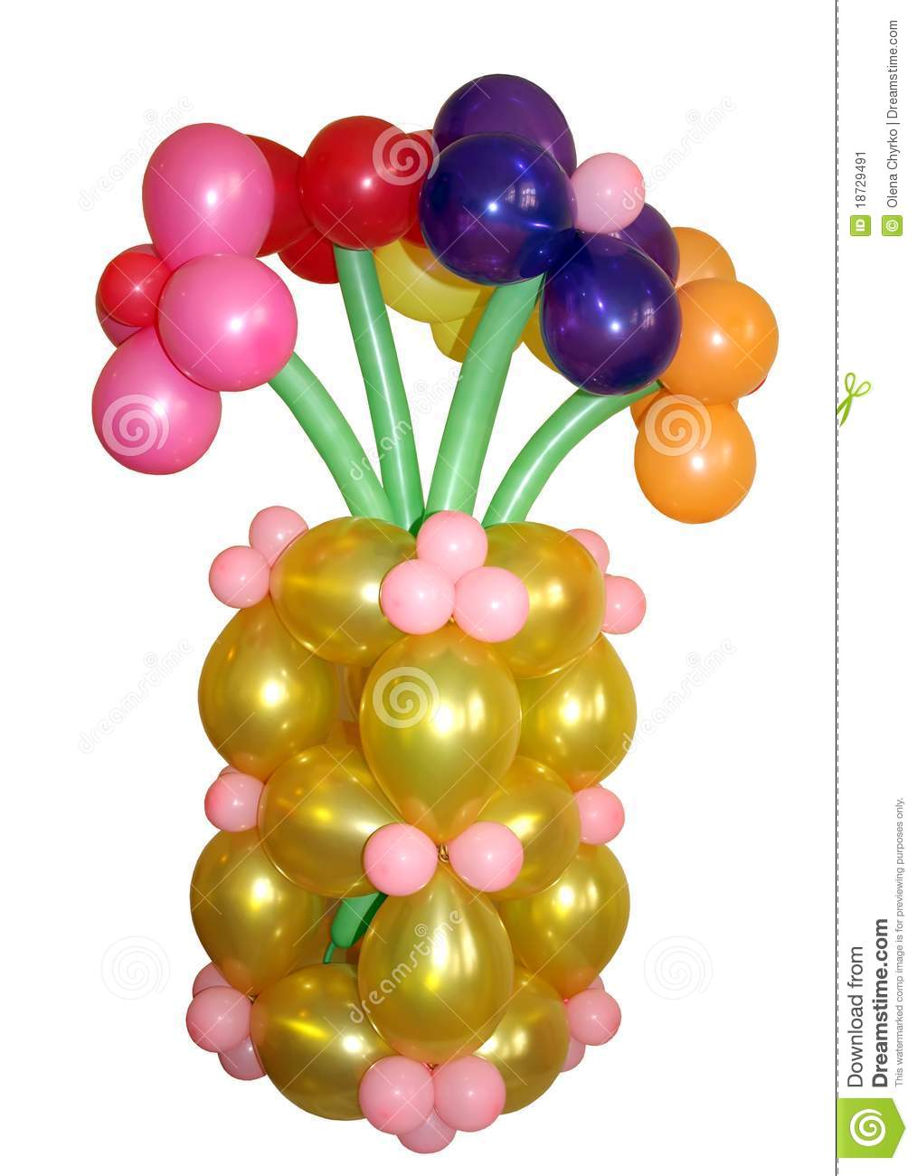 A Bouquet Of Colorful Balloons. Stock Image - Image: 18729491
