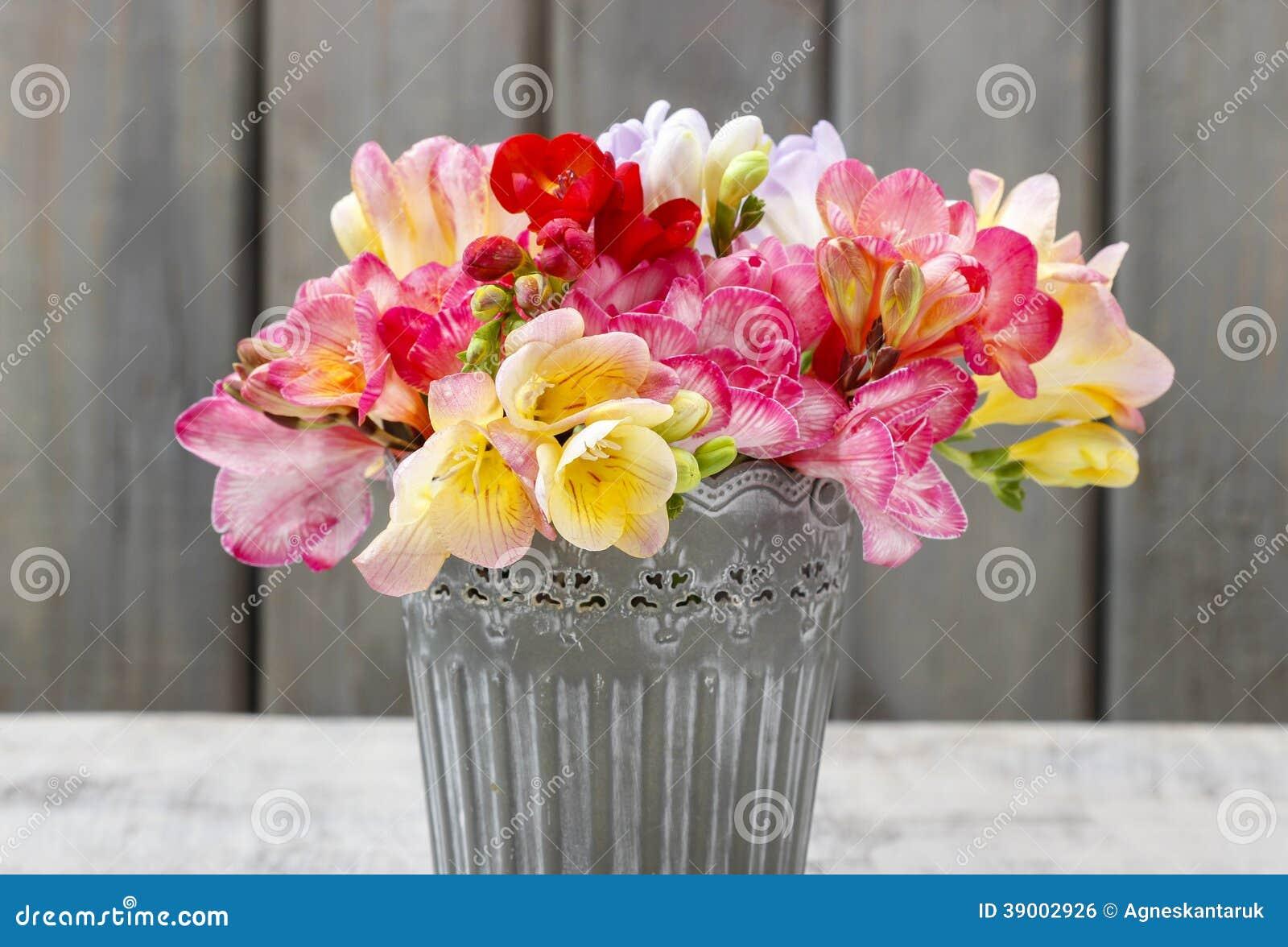 Bouquet of colorful freesia flowers stock photo image of birthday bouquet of colorful freesia flowers birthday ceremony izmirmasajfo Gallery