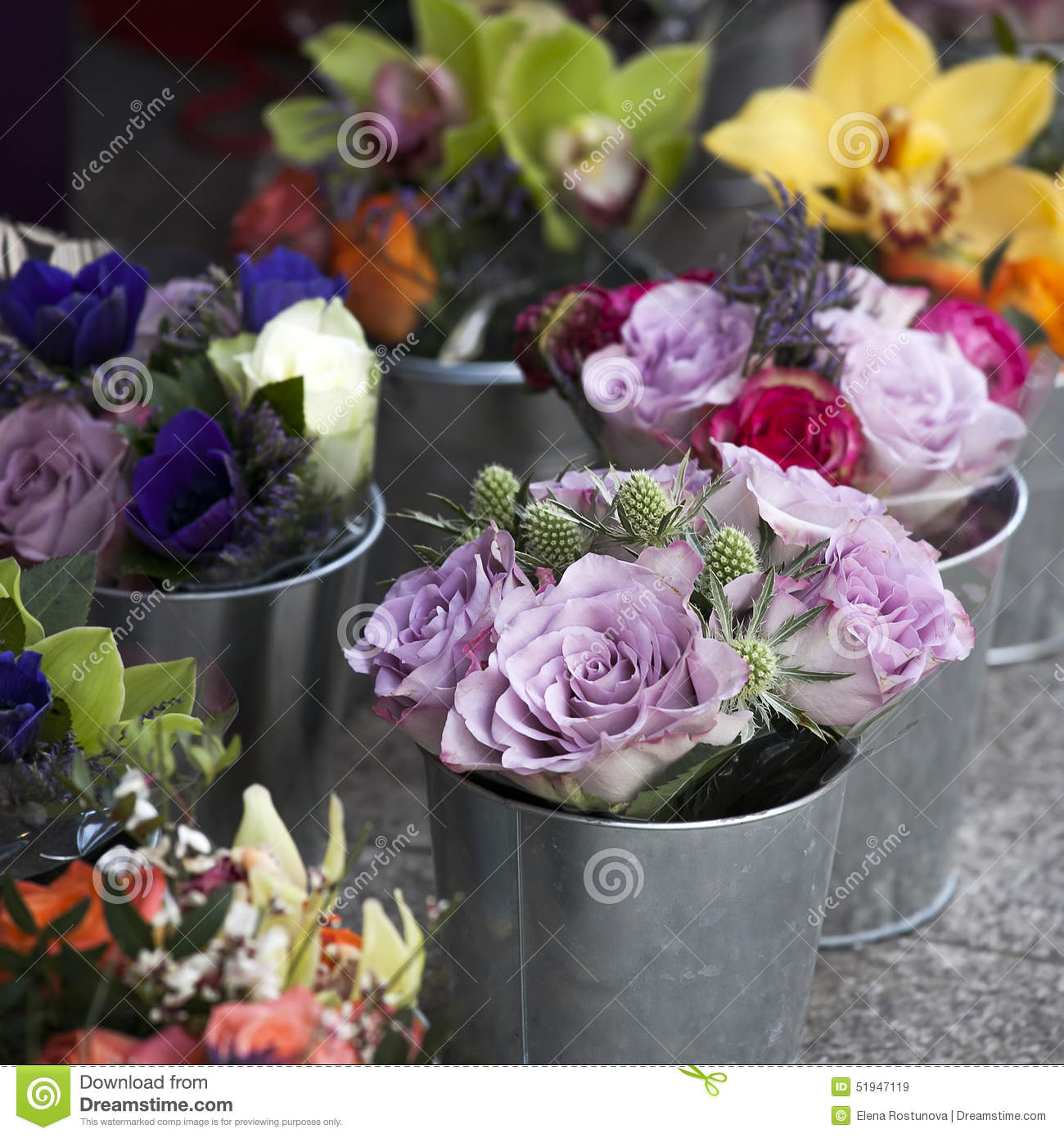 Bouquet Of Colorful Spring Flowers Tulip Ranunculus Hyacinth Stock Image Image Of Mineral Buttercup 51947119