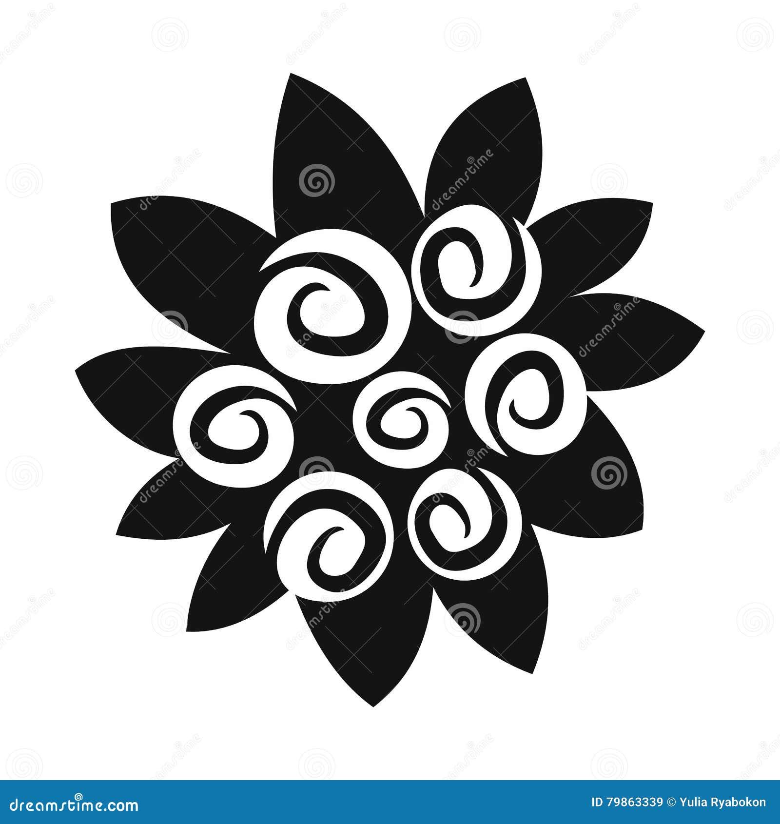 Bouquet D Icône Simple De Fleurs Illustration De Vecteur