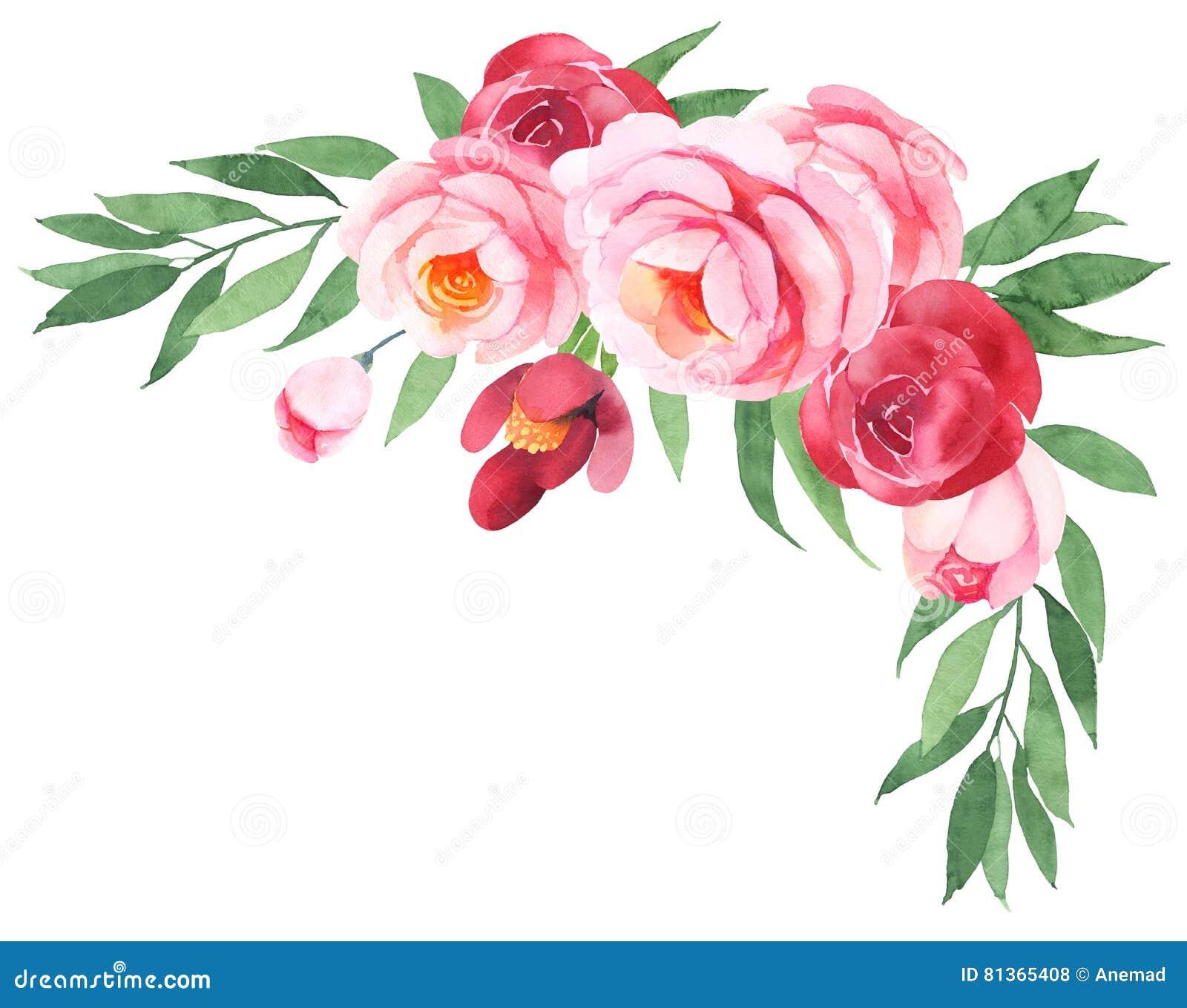 Bouquet de boh mien de fleur illustration stock for Bouquet de fleurs lumineux