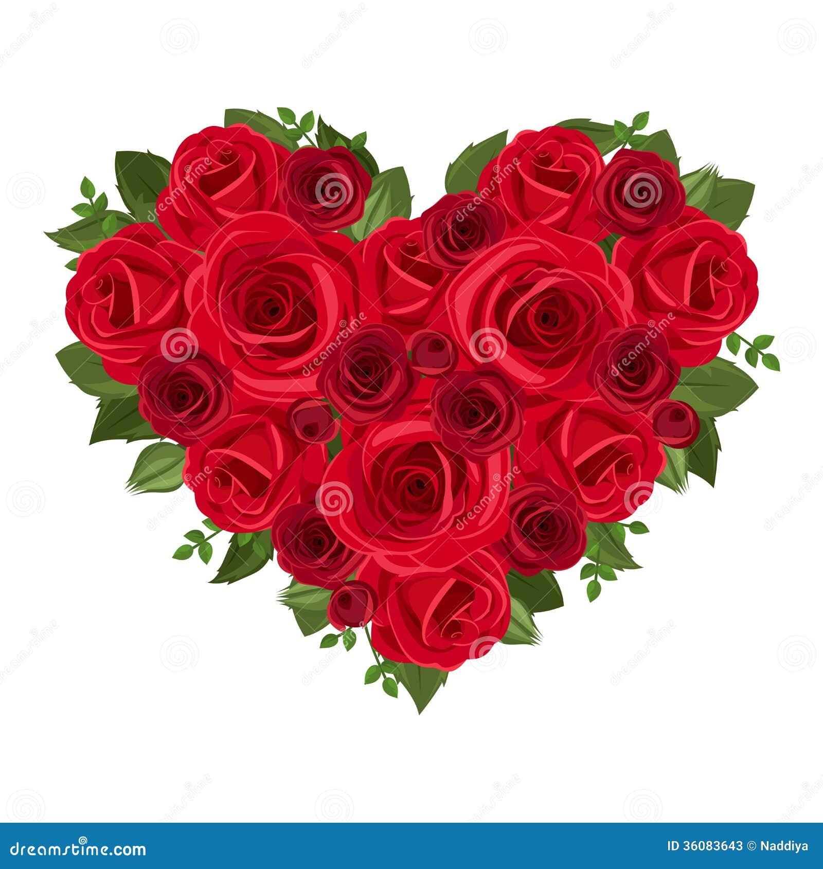 bouquet de coeur des roses rouges illustration de vecteur illustration du floral jour 36083643. Black Bedroom Furniture Sets. Home Design Ideas