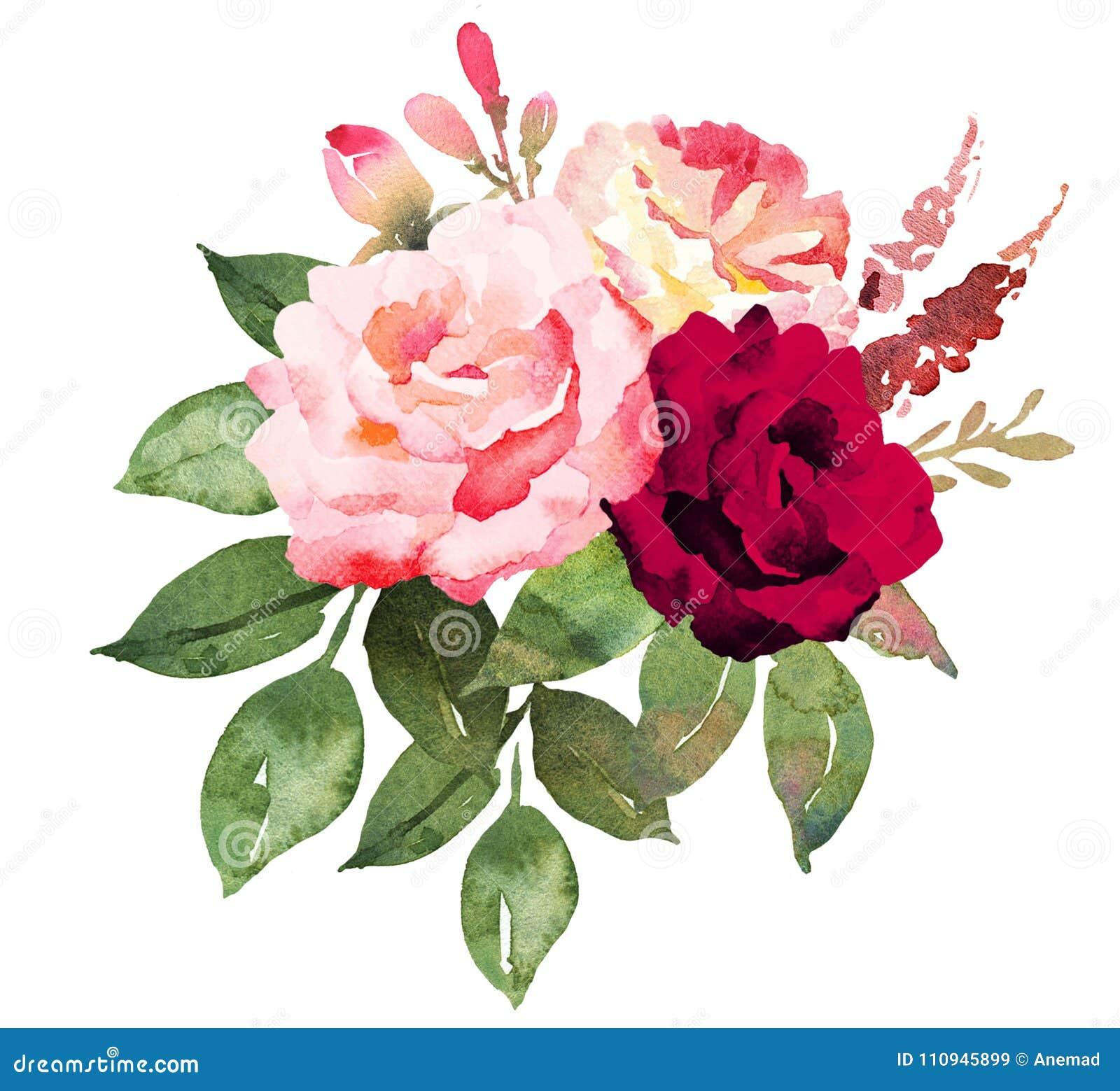 Bouquet de fleur avec les roses rouges et roses for Bouquet de fleurs lumineux