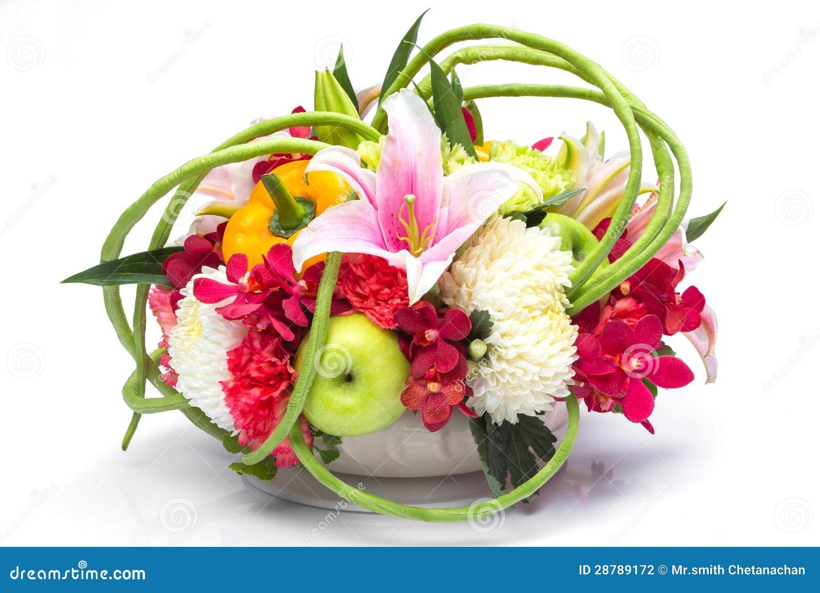 bouquet de fruit et de fleur photo stock image du haricot bouquet 28789172. Black Bedroom Furniture Sets. Home Design Ideas
