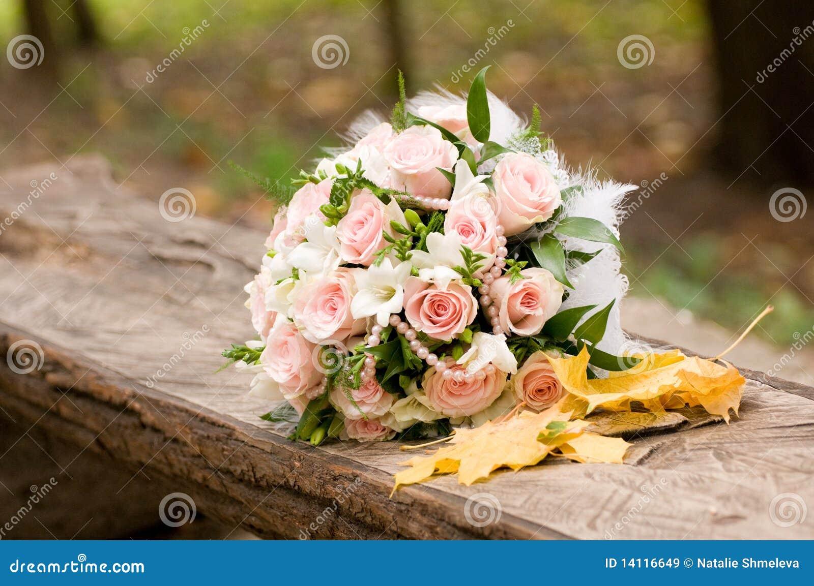bouquet de mariage d 39 automne images libres de droits image 14116649. Black Bedroom Furniture Sets. Home Design Ideas