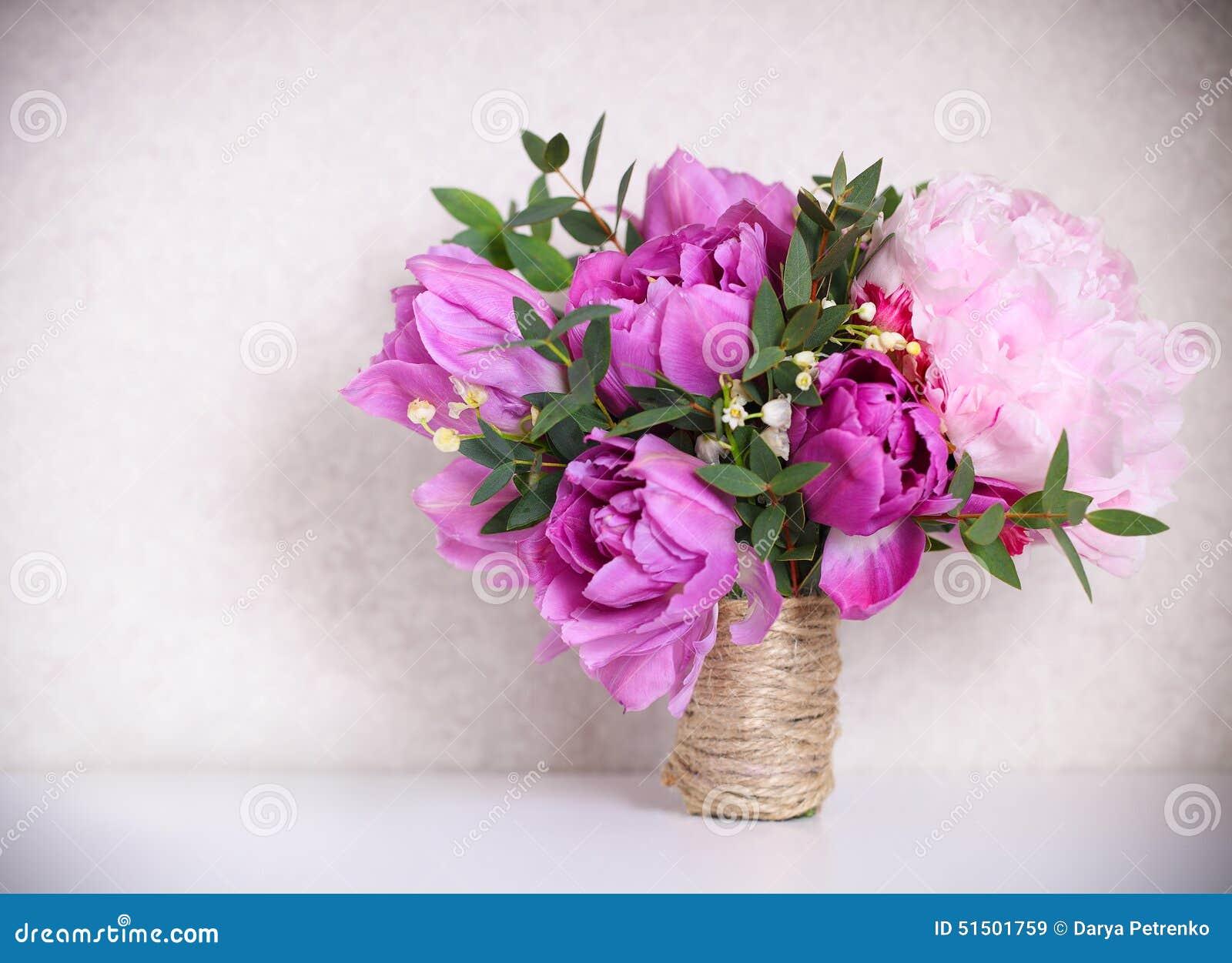 bouquet de mariage de pivoines roses image stock image du livre flore 51501759. Black Bedroom Furniture Sets. Home Design Ideas