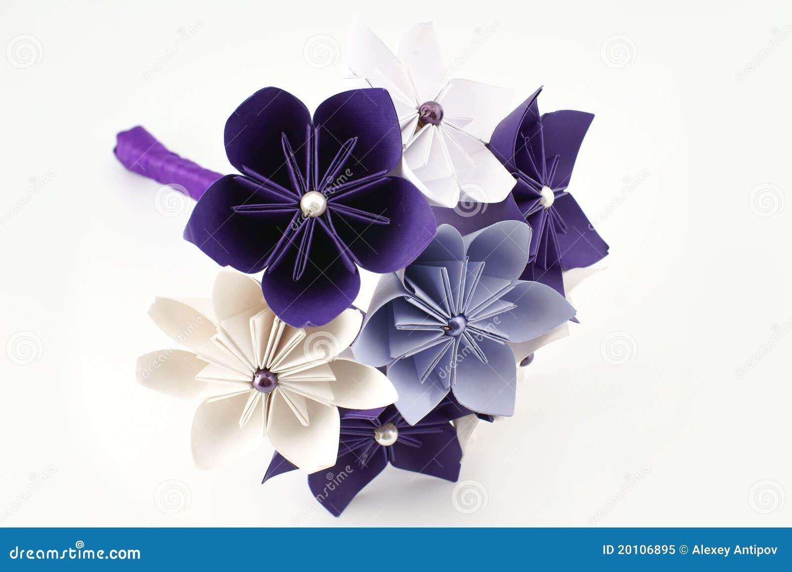 bouquet de papier de mariage d 39 origami photo libre de droits image 20106895. Black Bedroom Furniture Sets. Home Design Ideas