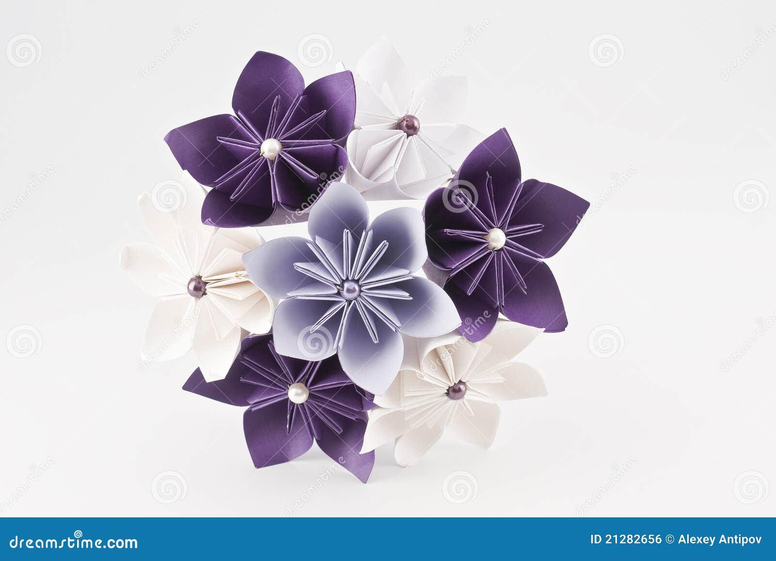 bouquet de papier de mariage d 39 origami image libre de droits image 21282656. Black Bedroom Furniture Sets. Home Design Ideas
