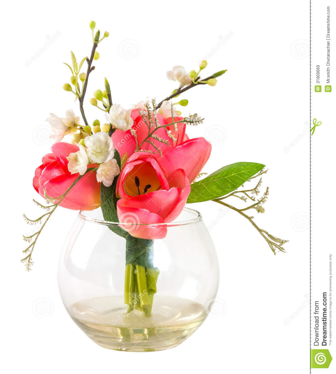 bouquet de tulipe rose dans le vase en verre images libres de droits image 31909669. Black Bedroom Furniture Sets. Home Design Ideas