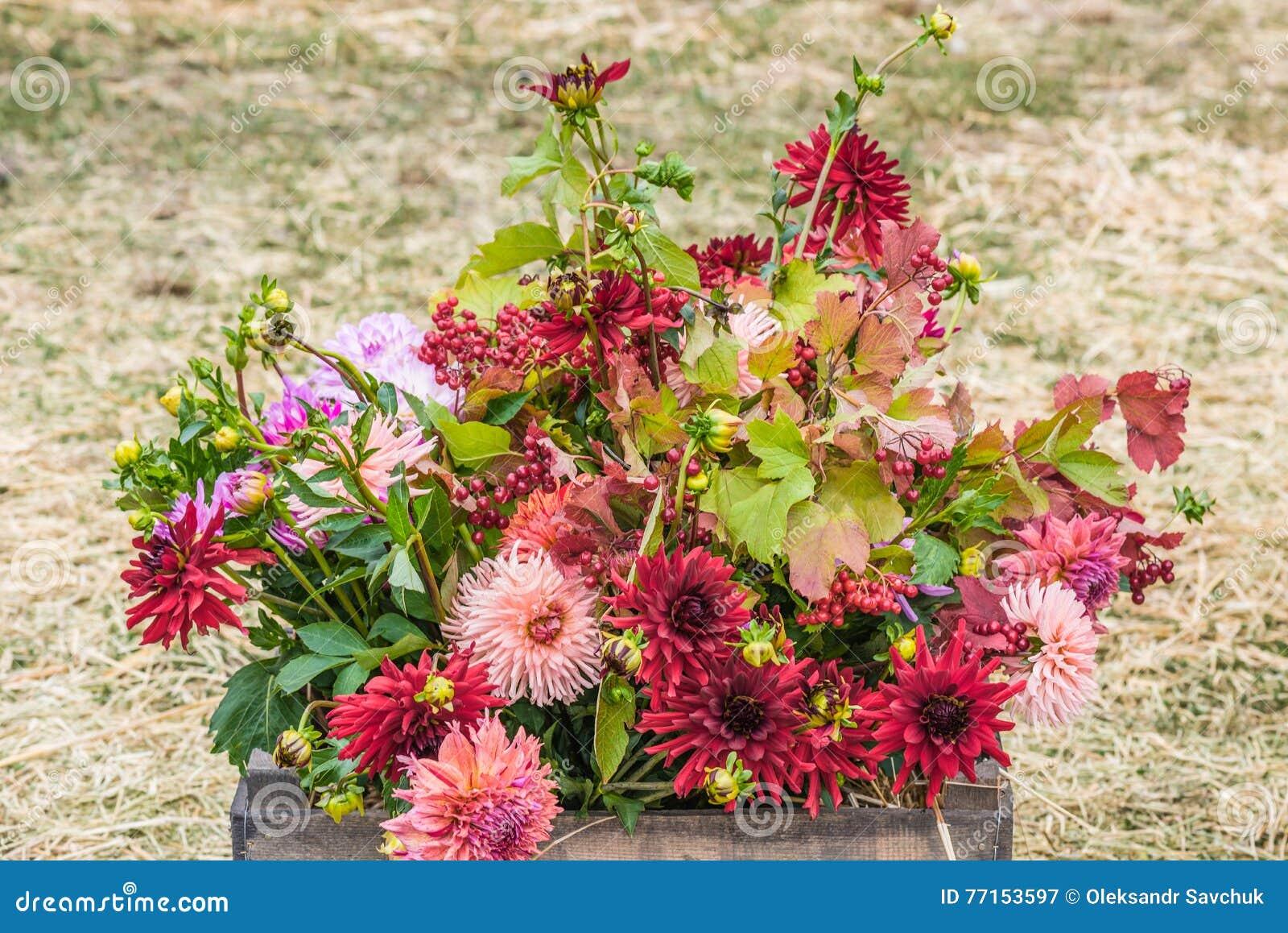 Bouquet des fleurs d automne