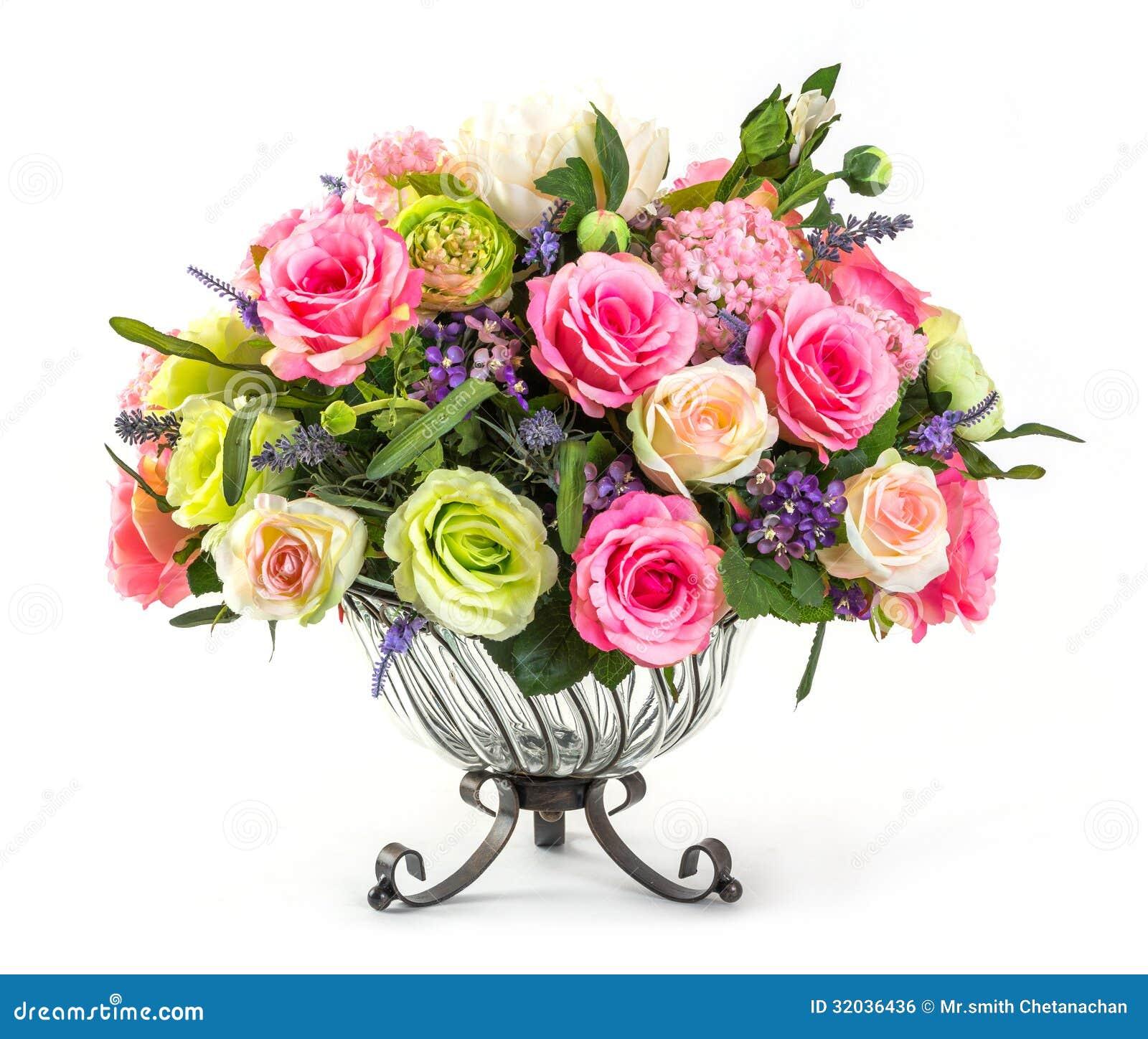 bouquet des roses dans le vase en verre image libre de droits image 32036436. Black Bedroom Furniture Sets. Home Design Ideas