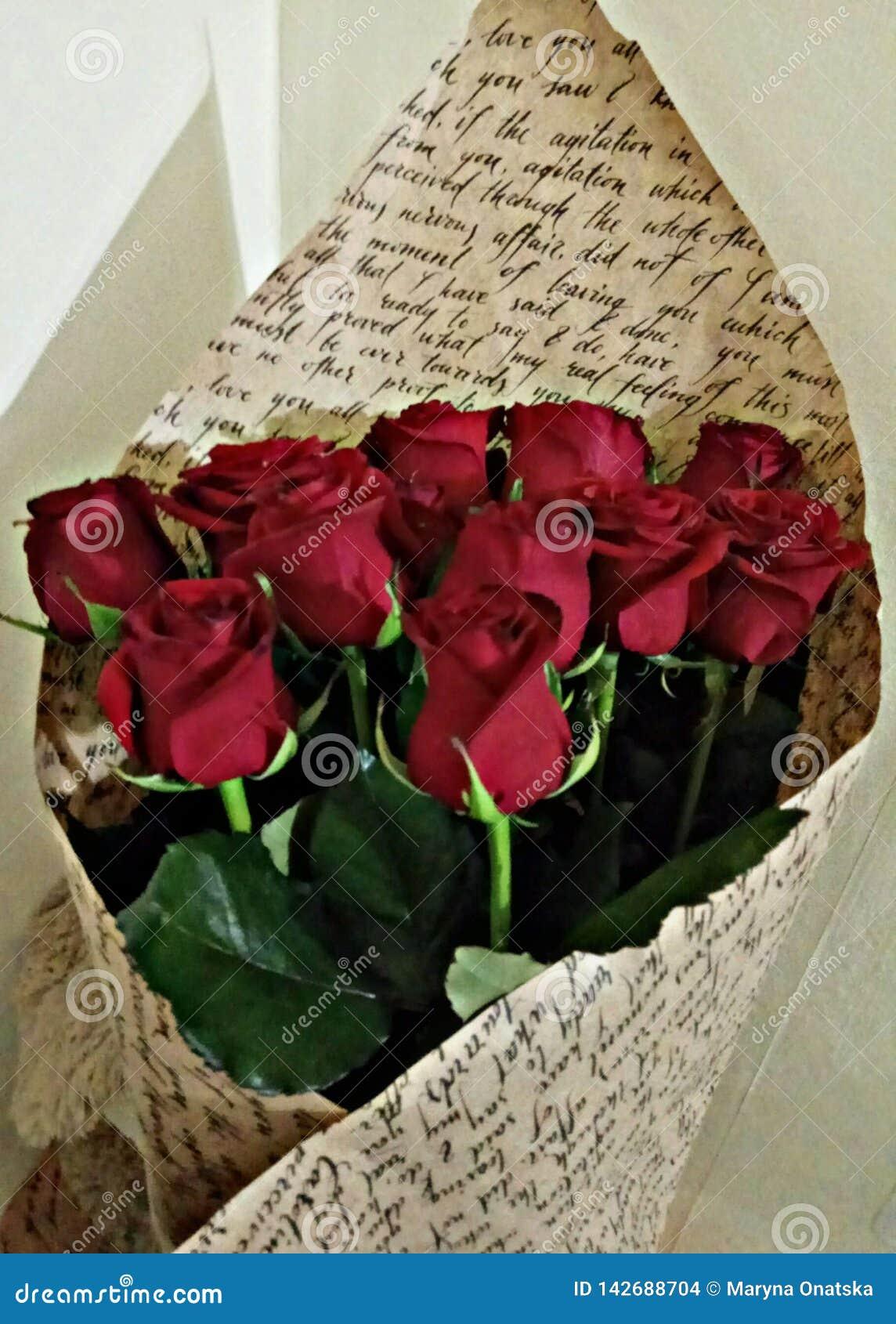 Bouquet des roses rouges