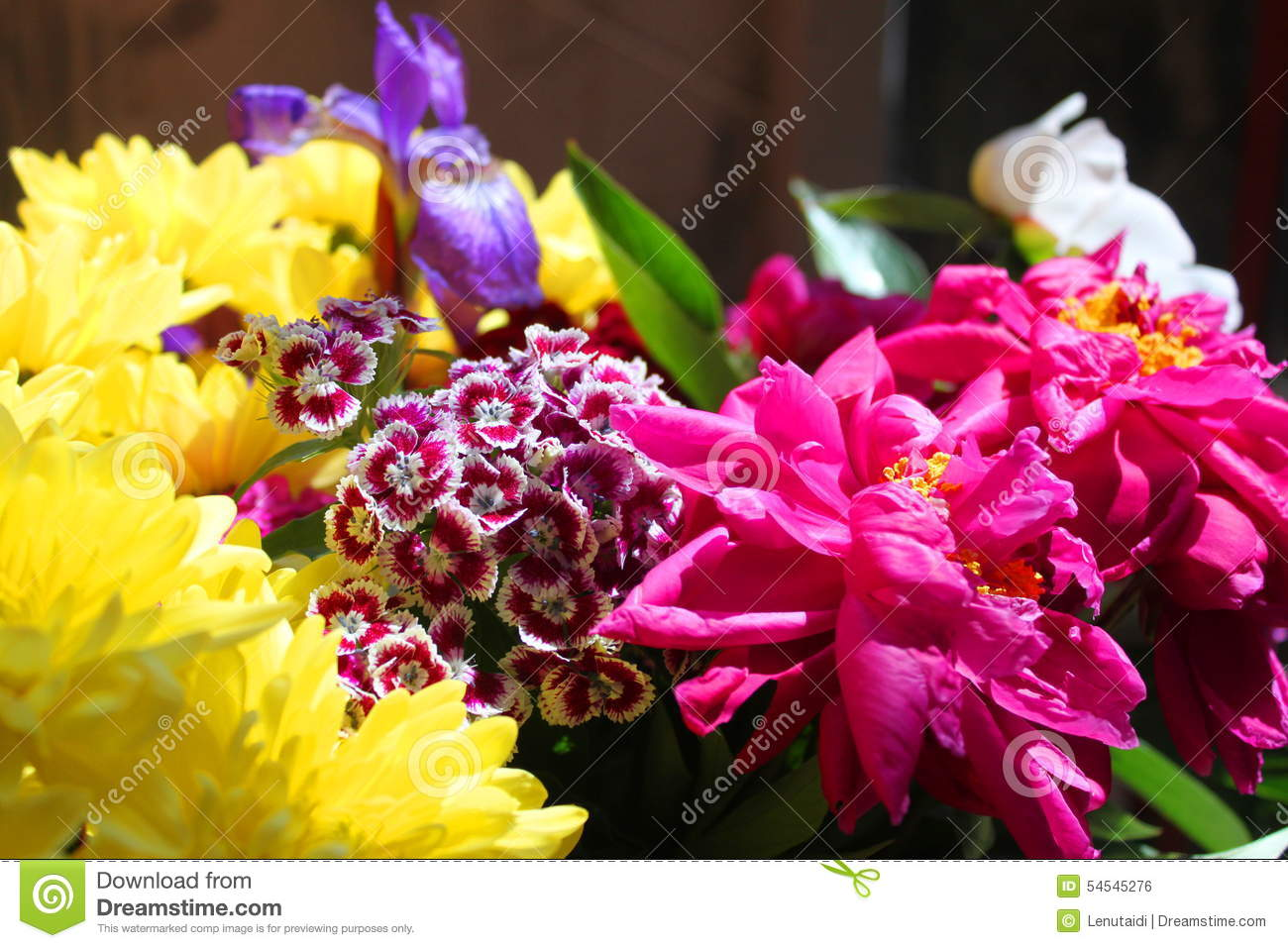 Bouquet of different flowers stock photo image of bright bouquet of different flowers izmirmasajfo