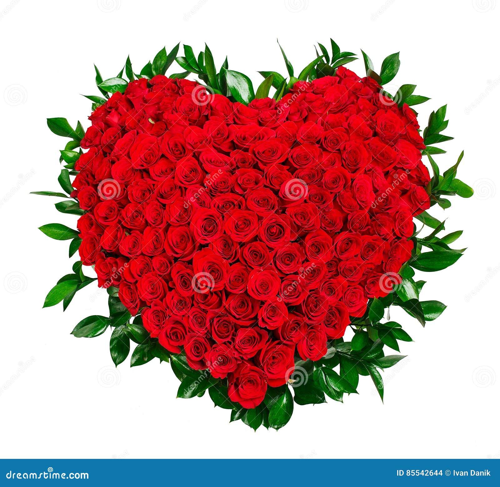 bouquet en forme de coeur des roses rouges photo stock - image du