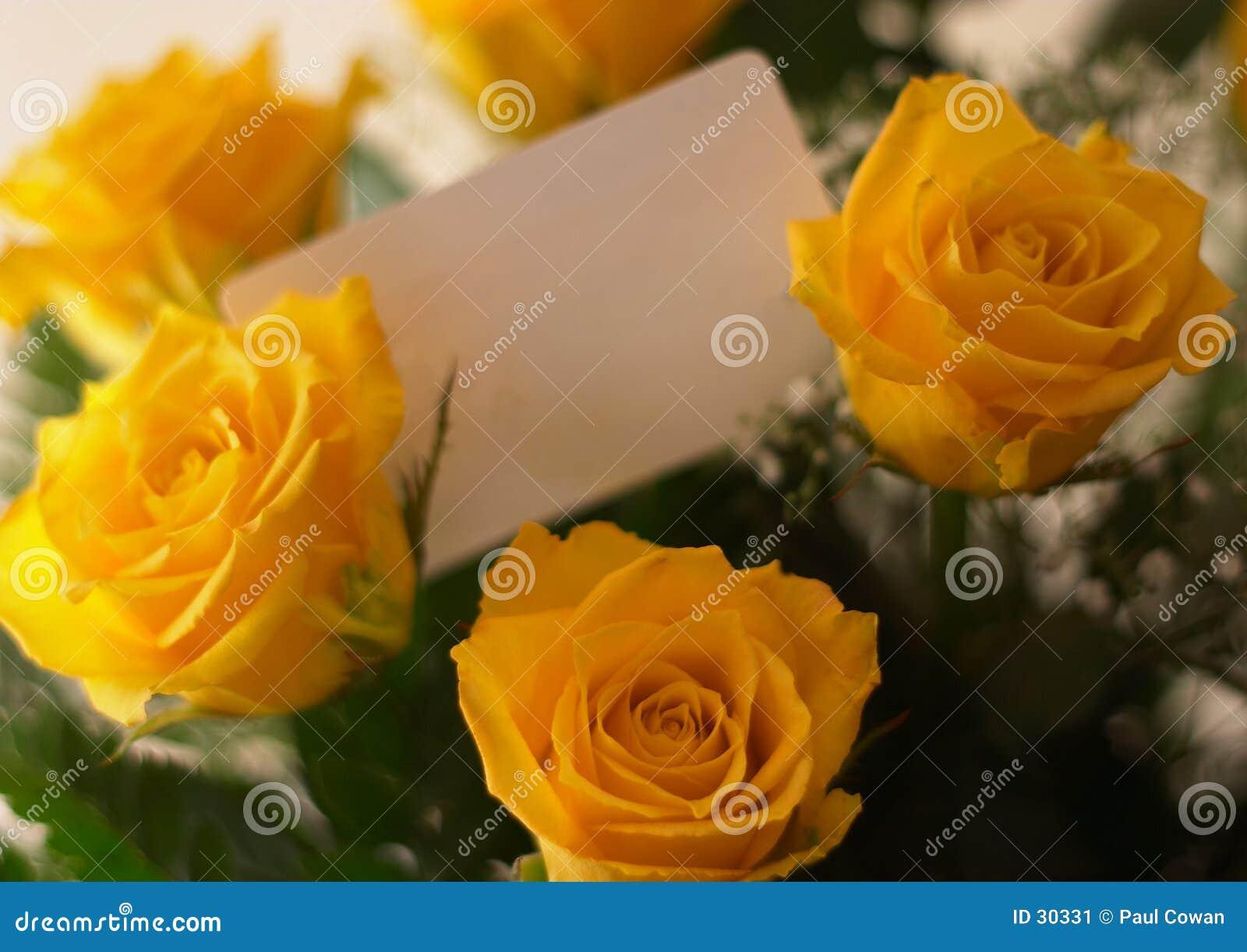 Bouquet et carte