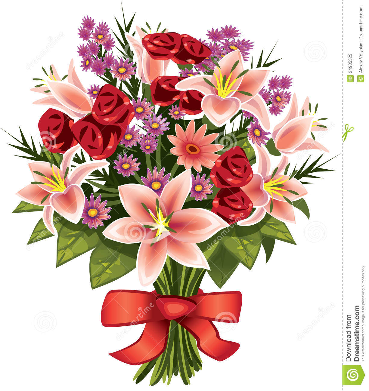 Bouquet of flowers stock illustration illustration of love 24935323 bouquet of flowers izmirmasajfo Choice Image