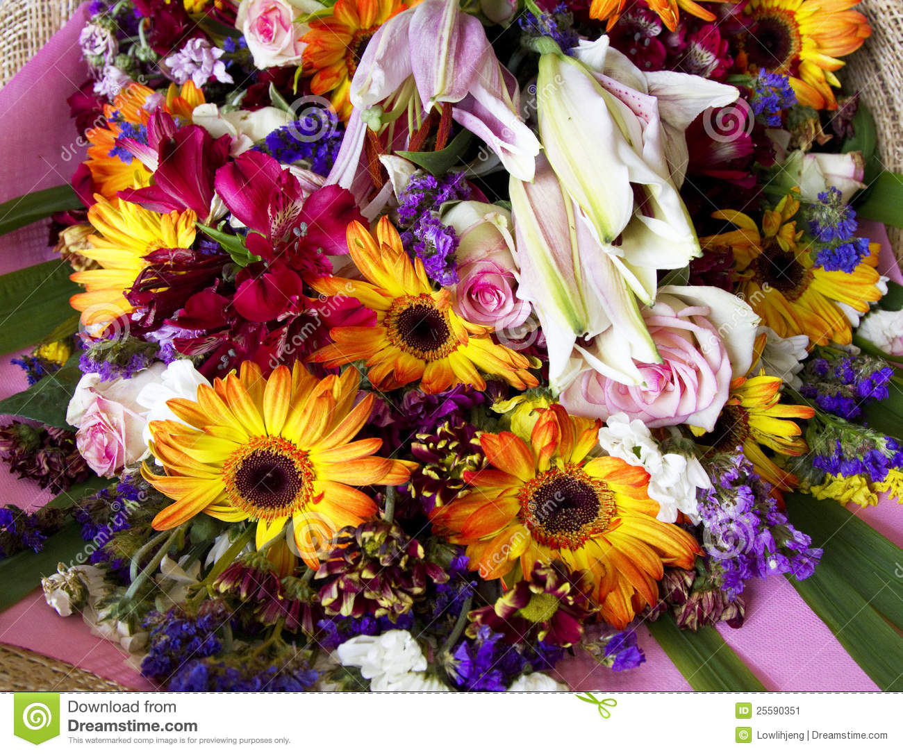 Download Bouquet of flowers stock image. Image of color, birthday - 25590351