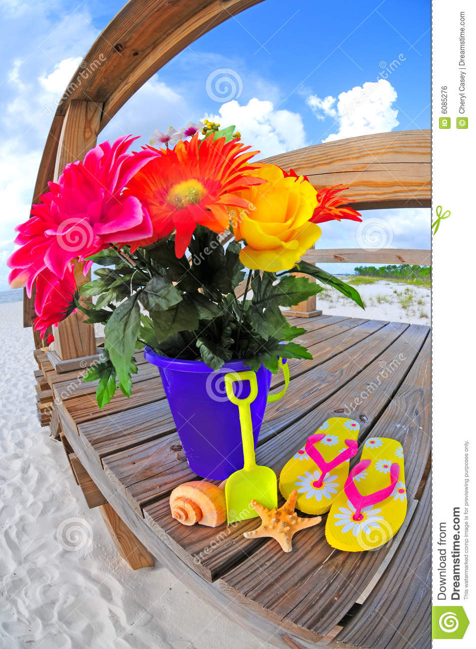 Bouquet Of Flowers By Beach Stock Photo Image Of Flowers Pretty