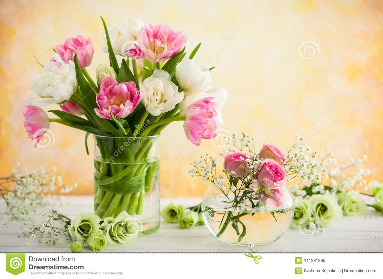Bouquet Of Flowers Stock Image Image Of Congratulation 111391995