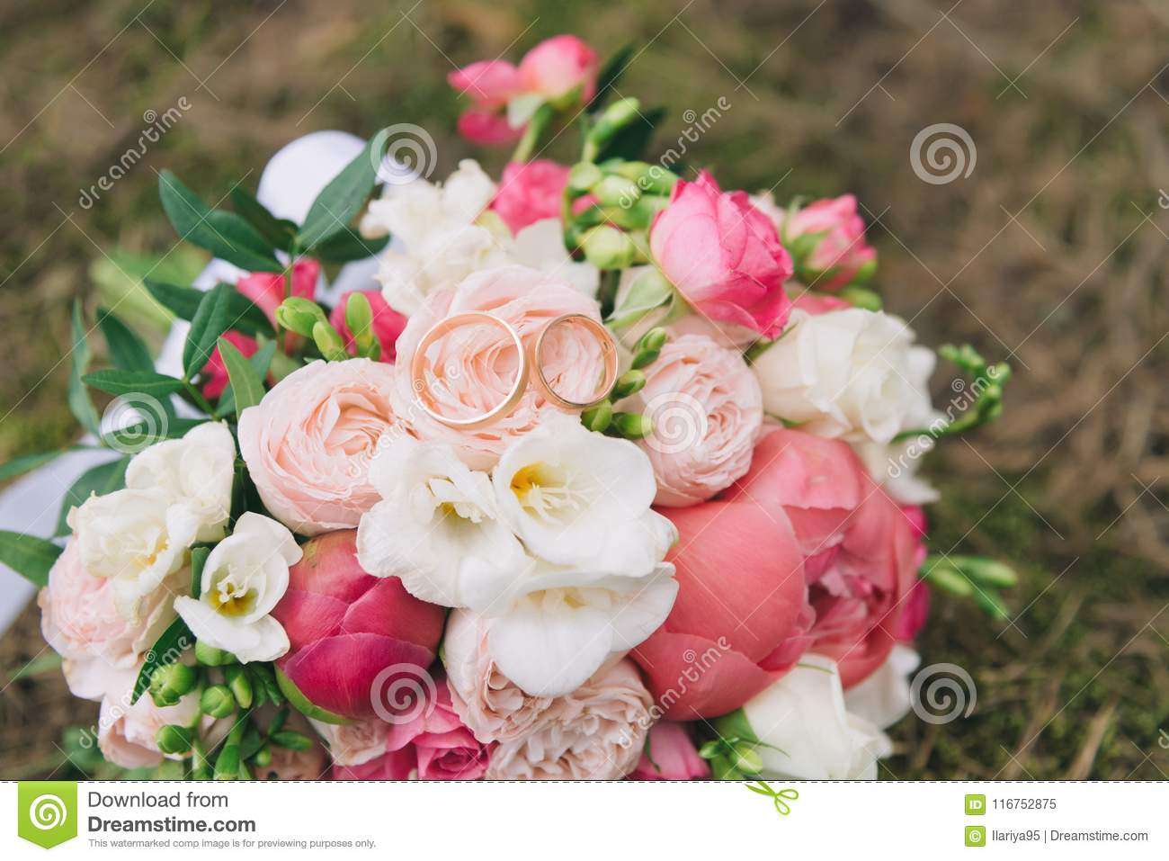 Bouquet Of Flowers. The Bride`s Bouquet. Bridal Bouquet. Floristics ...