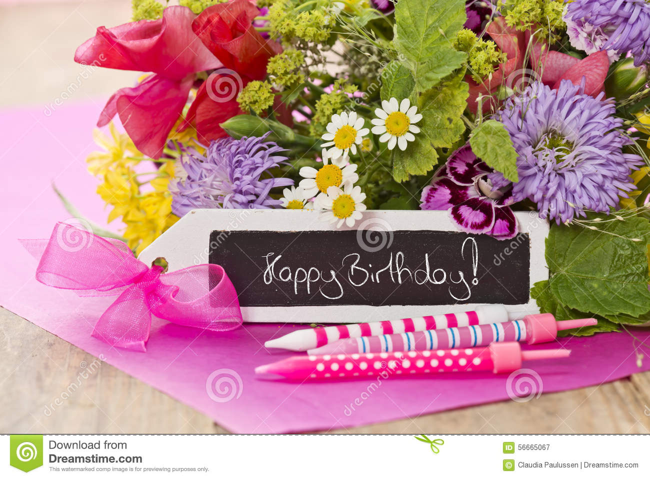 Happy birthday flower bouquets fda happy birthday purple palette bouquet of flowers izmirmasajfo Image collections