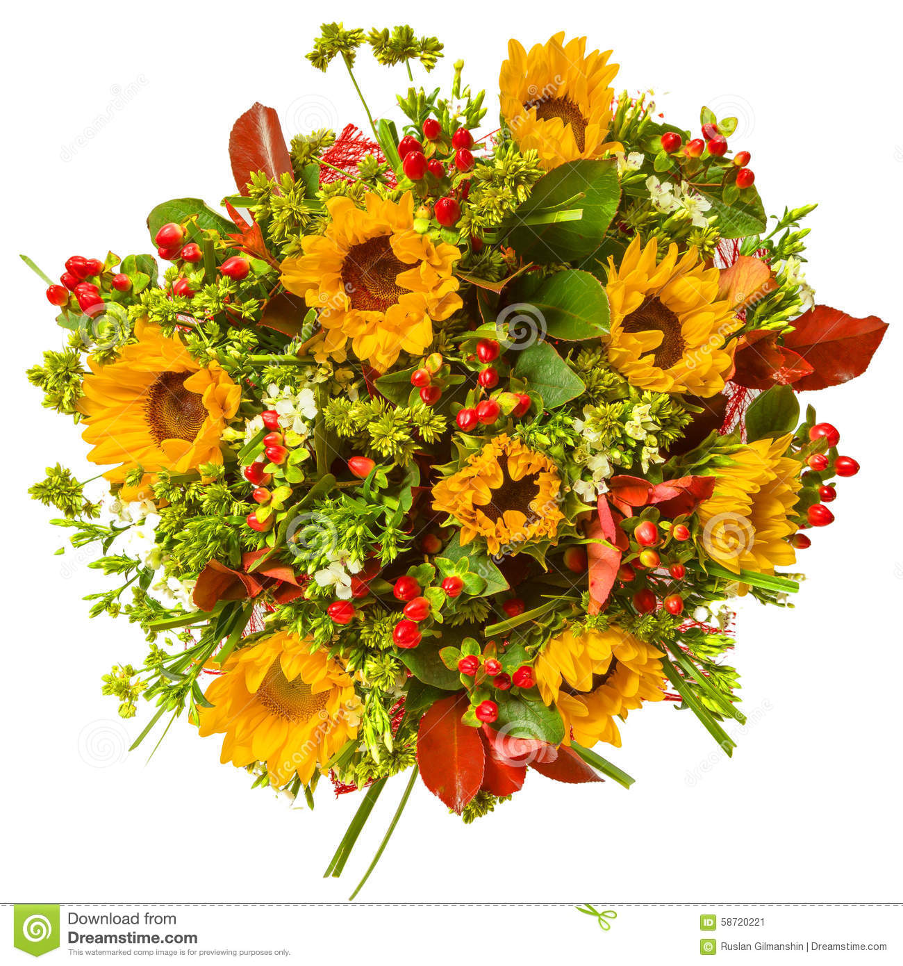 Bouquet of flowers top view isolated on white stock image image of download comp izmirmasajfo