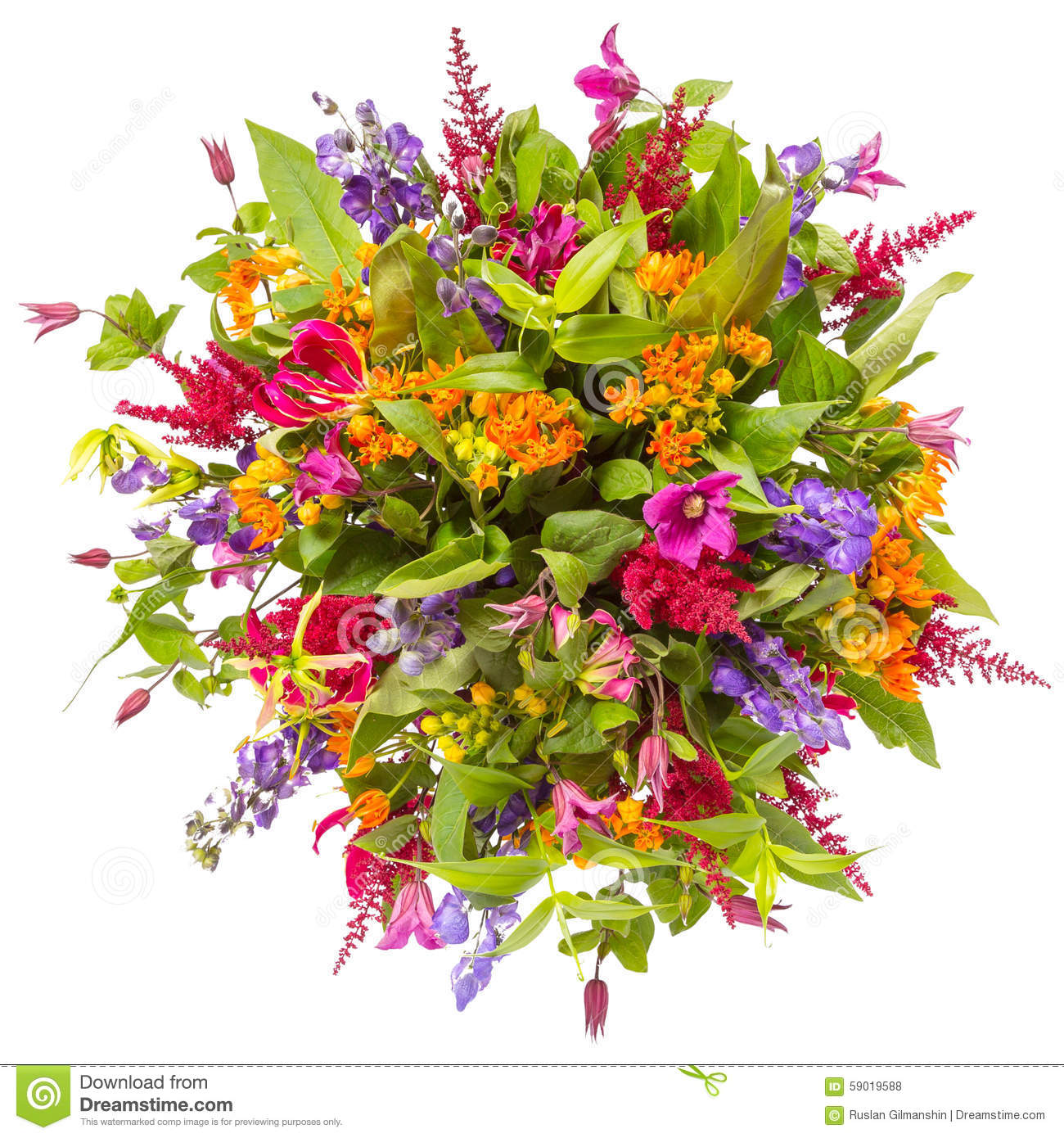 Bouquet of flowers top view isolated on white stock photo image of bouquet of flowers top view isolated on white colorful birthday izmirmasajfo