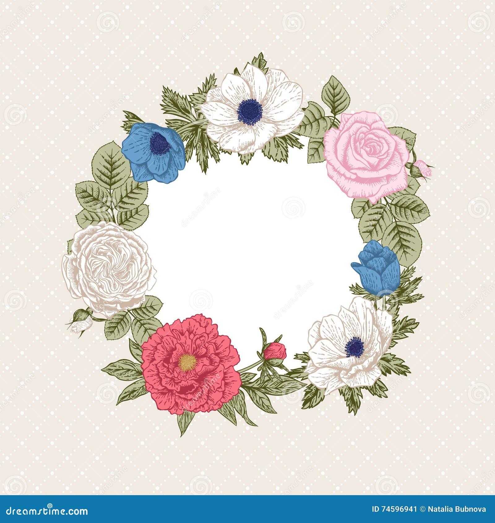 bouquet of flowers wedding card stock vector