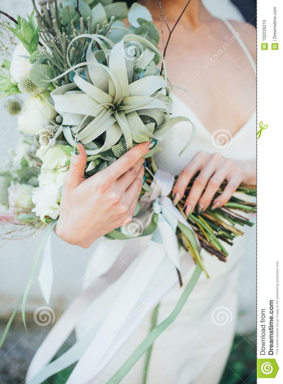 Bouquet with fresh flowers in hand stock image image of birthday bouquet with fresh flowers in hand izmirmasajfo