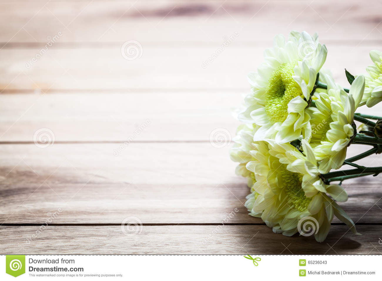 Download Bouquet Of Fresh Spring Flowers On Rustic Wood Vintage Stock Image