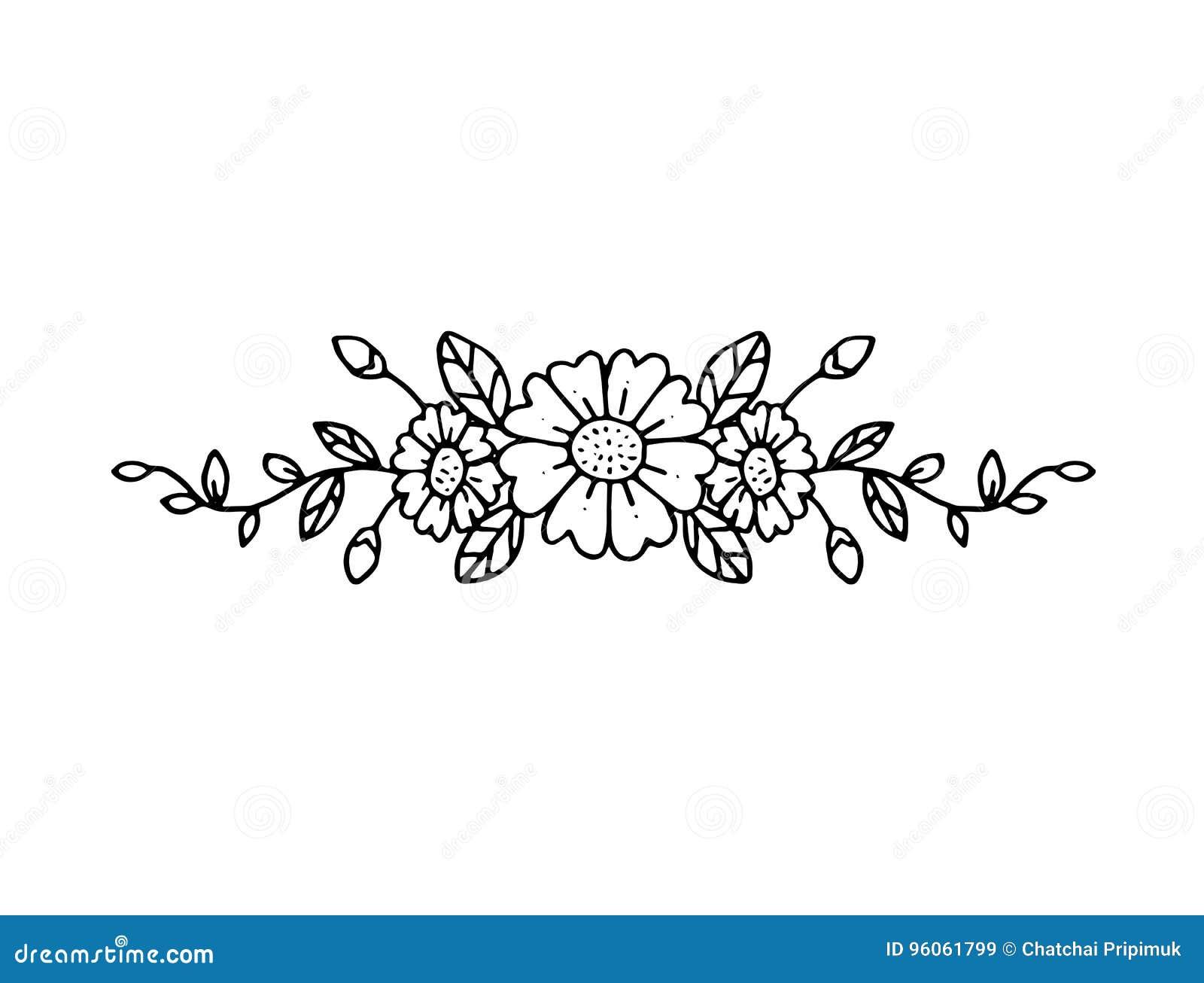 Bouquet graphique de fleur, vecteur