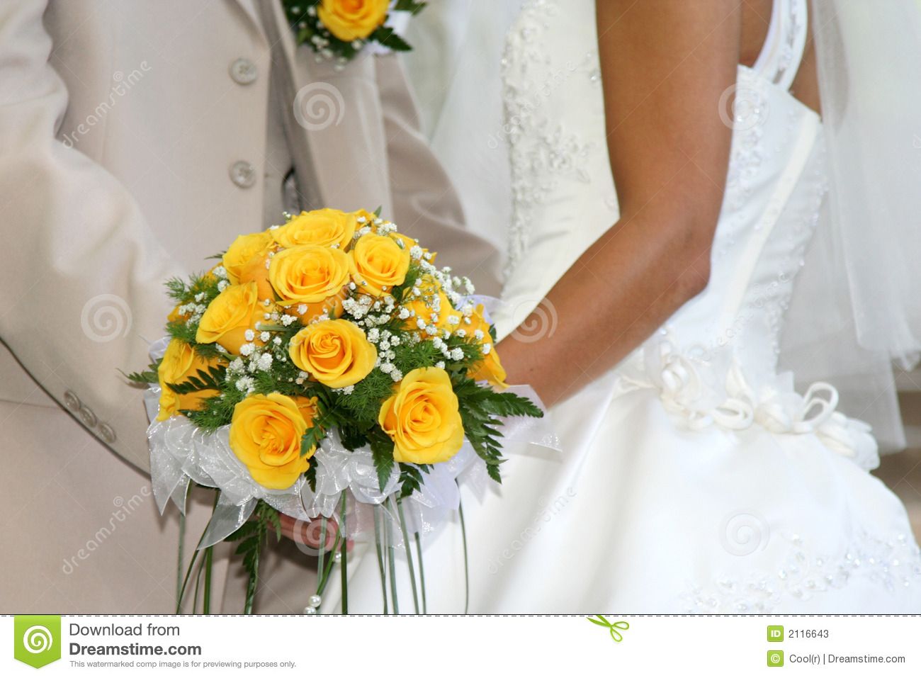 bouquet jaune de mariage photos stock image 2116643. Black Bedroom Furniture Sets. Home Design Ideas