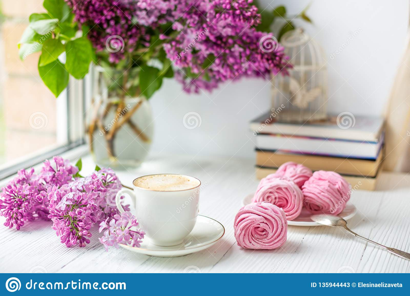 Romantic morning stock image. Image of handsome