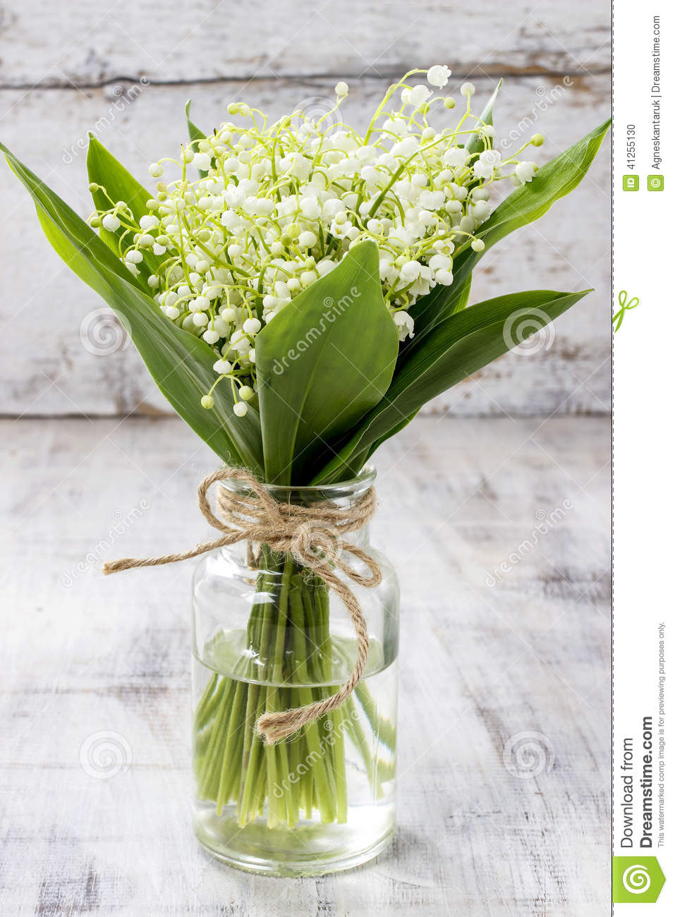 Bouquet Of Lily Of The Valley Flowers Stock Photo Image Of Lily