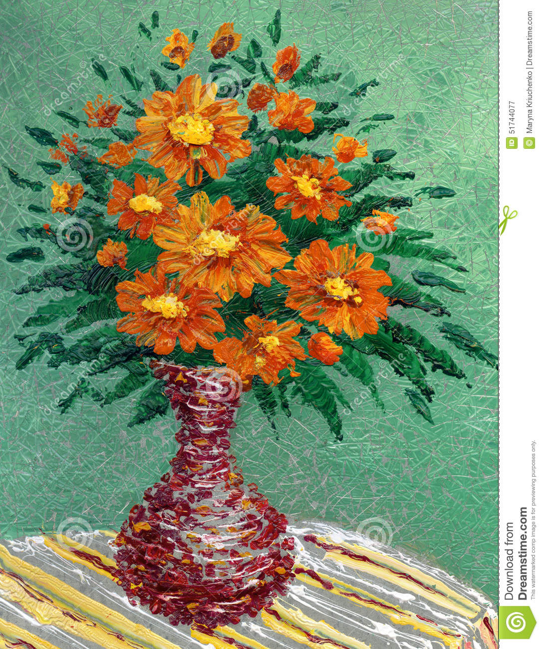 Bouquet of lush red flowers in a vase stock illustration bouquet of lush red flowers in a vase floridaeventfo Images