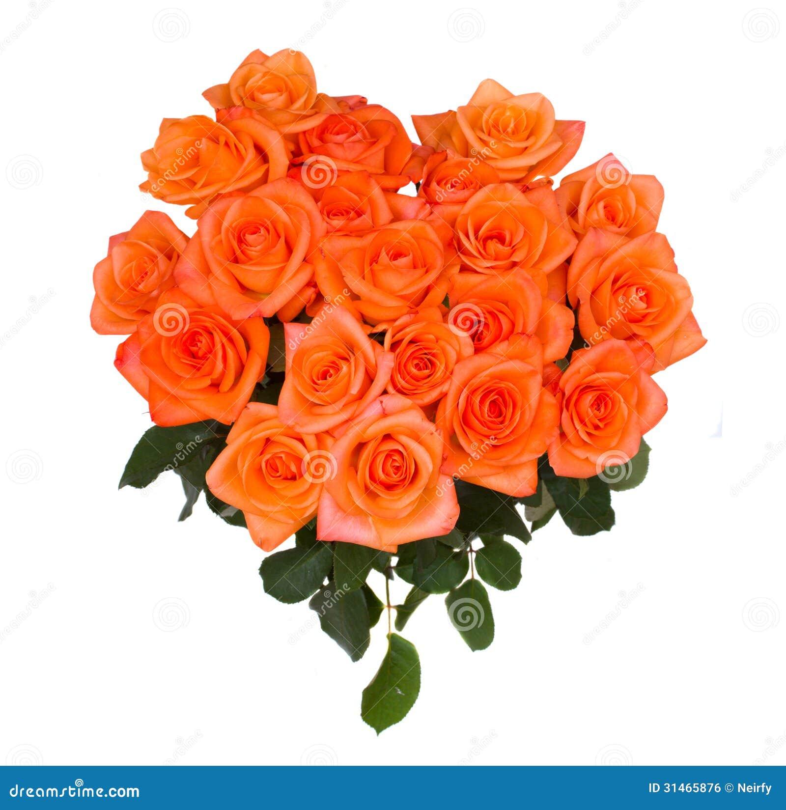 Bouquet Of Orange Roses Royalty Free Stock Image Image 31465876
