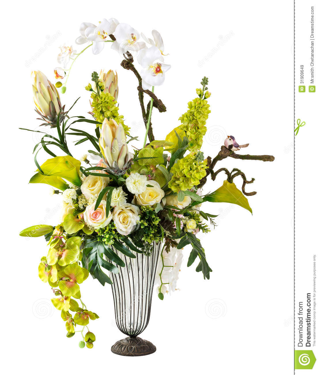 Bouquet of orchid and calla lily in glass vase stock image image bouquet of orchid and calla lily in glass vase reviewsmspy
