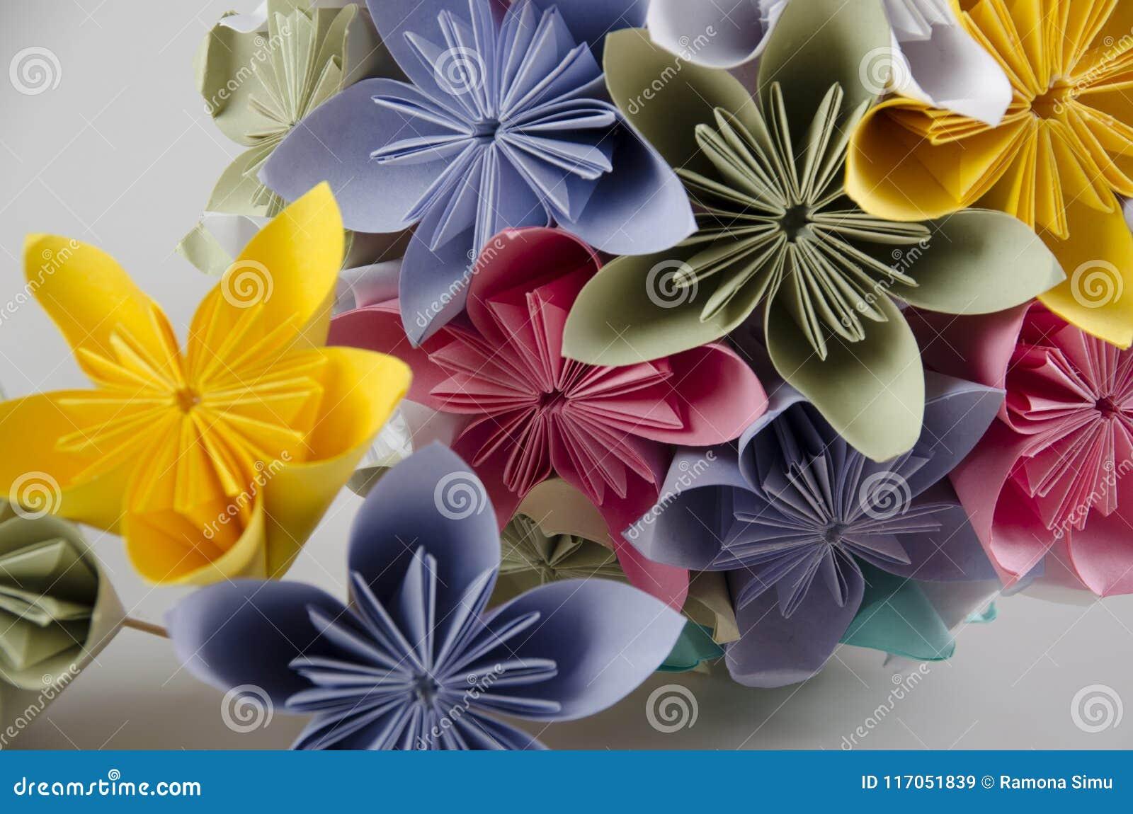 Paper Flower Bouquet Bride Bouquet Stock Image Image Of Pastel