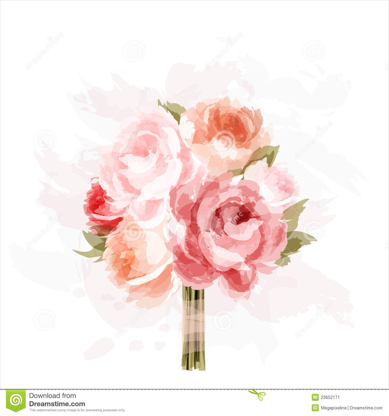 Bouquet of peonies stock image image 23652171