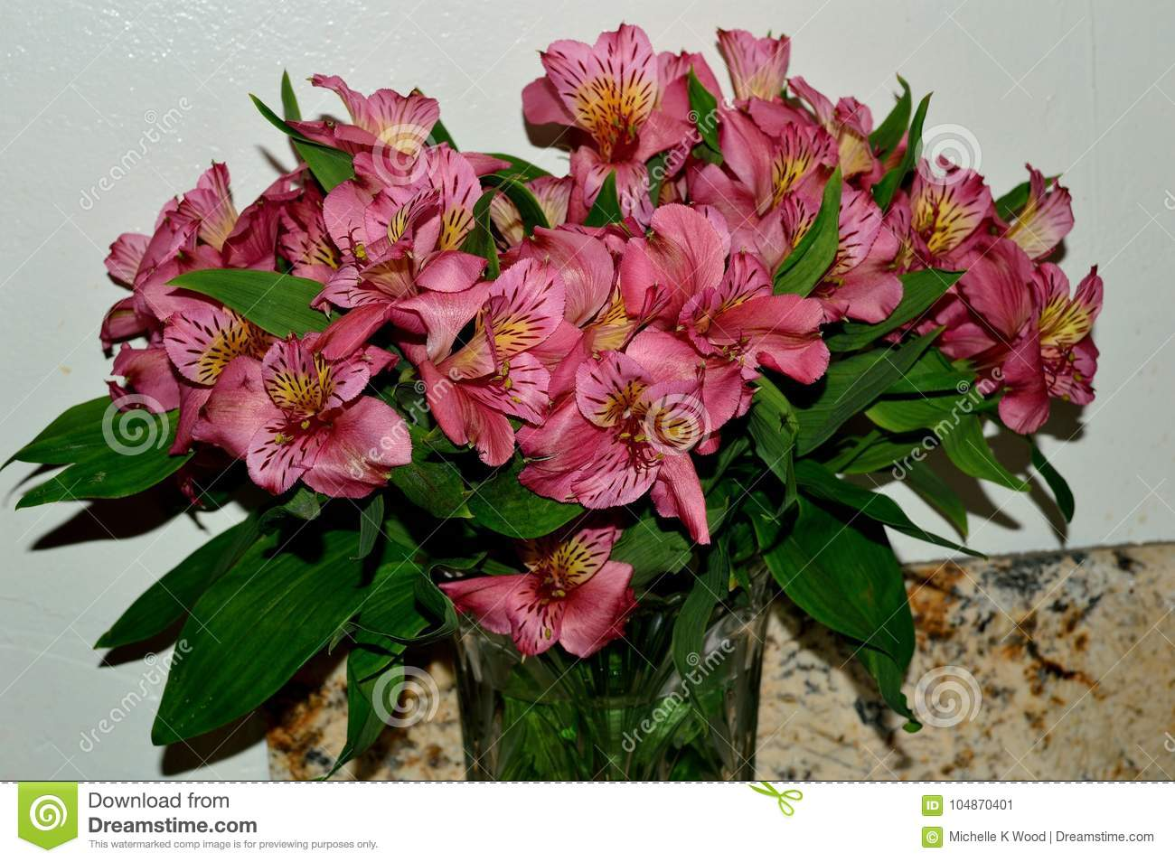 Bouquet of Pink Day Lily Blossoms
