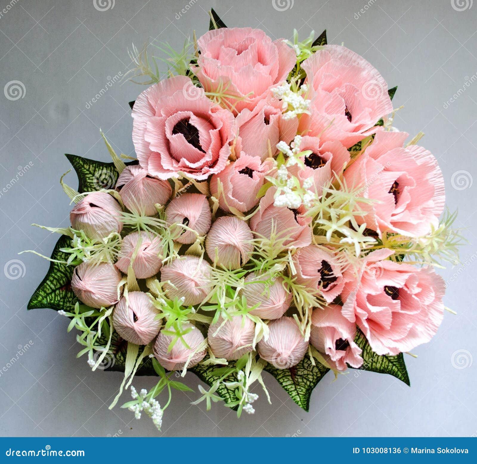 Sweet Bouquet Stock Photo Image Of Roses Basket Handmade 103008136